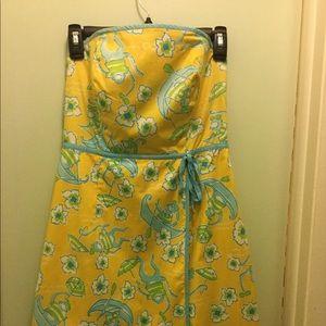 Vintage Lilly Pulitzer Strapless Dress